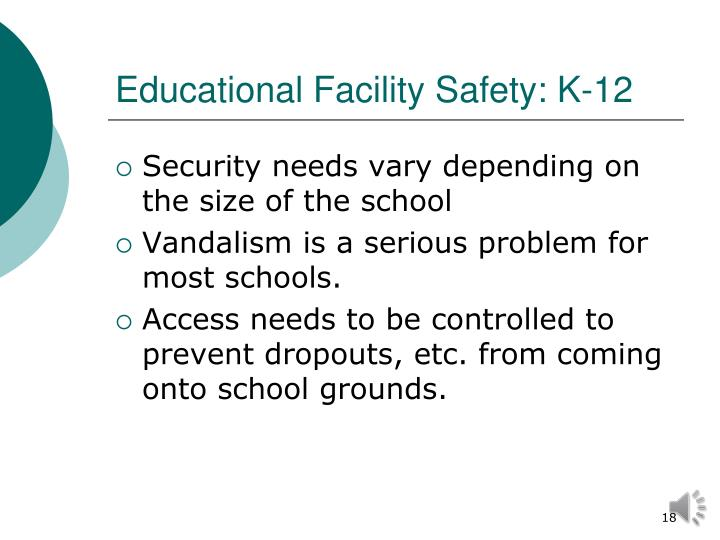 Educational Facility Safety: K-12