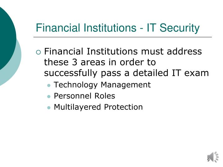 Financial Institutions - IT Security