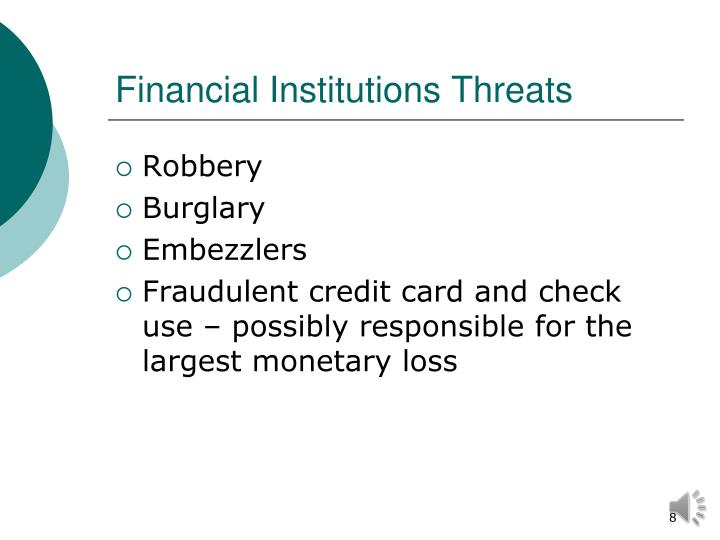 Financial Institutions Threats