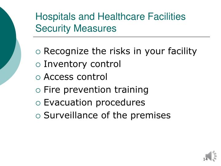 Hospitals and Healthcare Facilities Security Measures