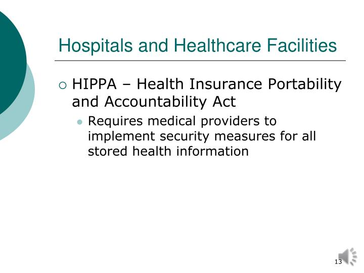 Hospitals and Healthcare Facilities