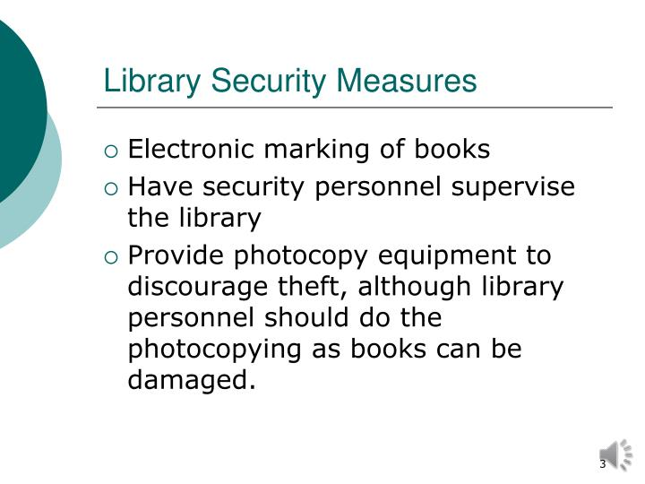 Library Security Measures