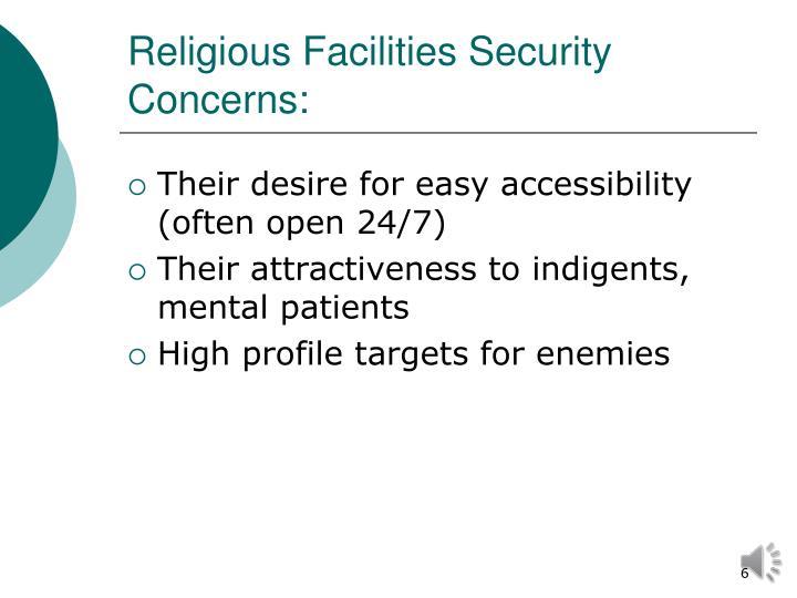 Religious Facilities Security Concerns:
