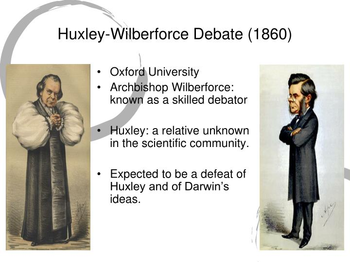 Huxley-Wilberforce Debate (1860)