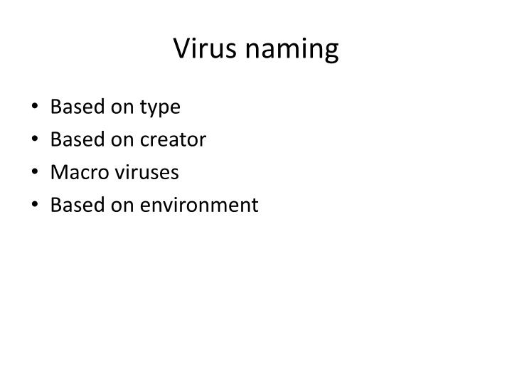 Virus naming