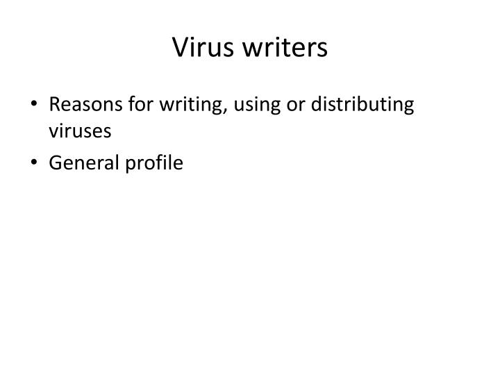 Virus writers