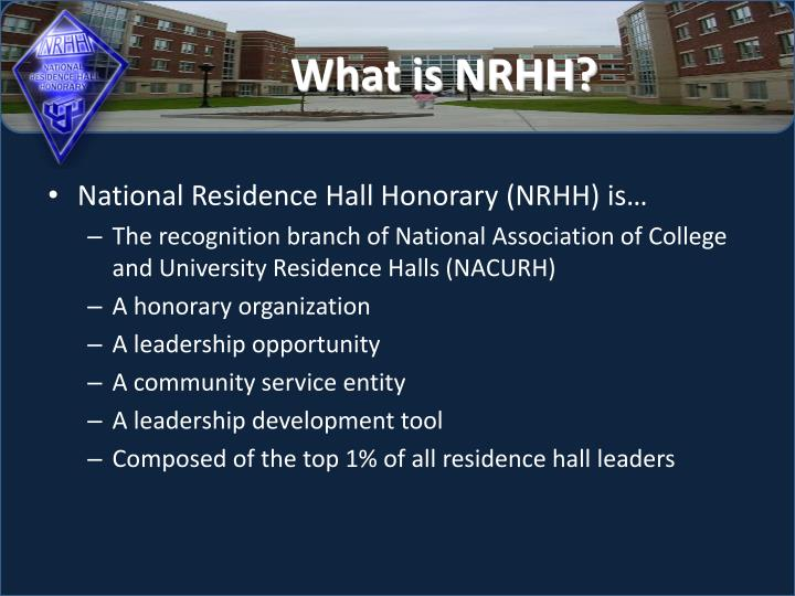 What is nrhh