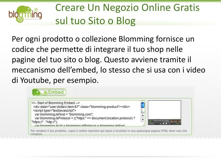 Creare Un Negozio Online Gratis sul tuo Sito o Blog