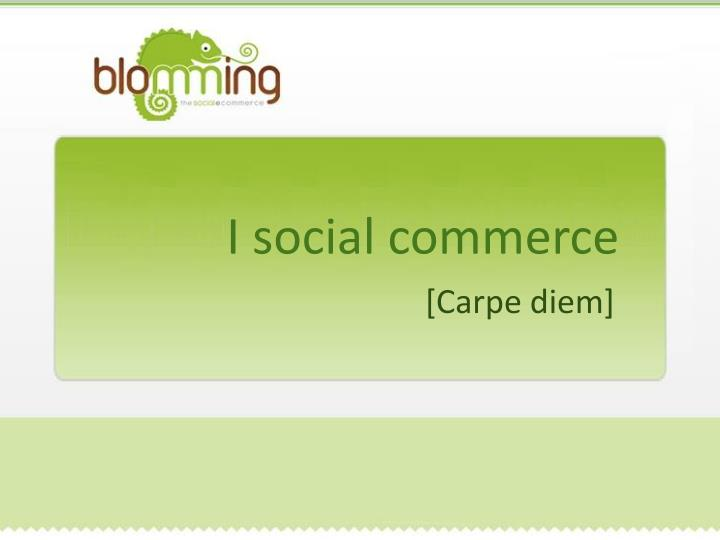 I social commerce