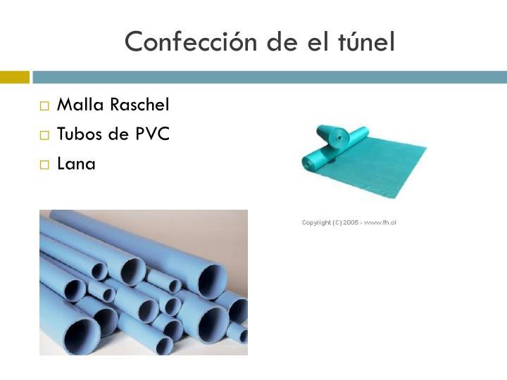 Confección de el túnel