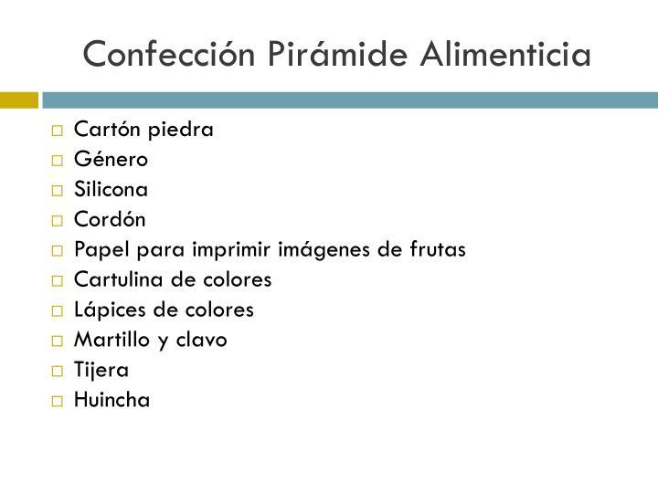Confección Pirámide Alimenticia