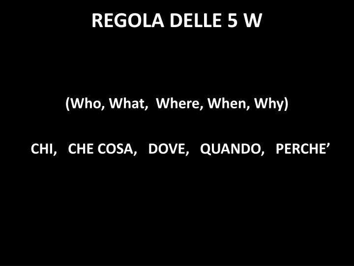 REGOLA DELLE 5
