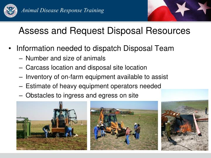 Assess and Request Disposal Resources