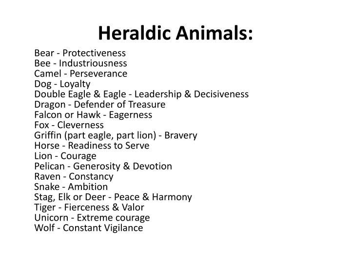 Heraldic Animals:
