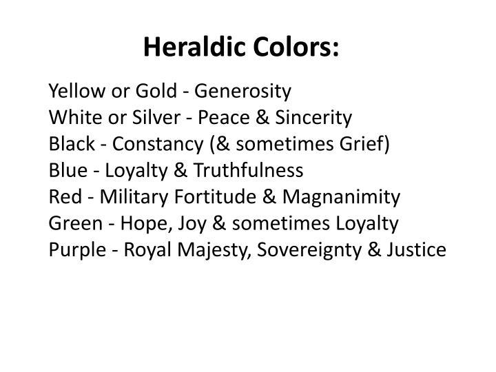Heraldic Colors: