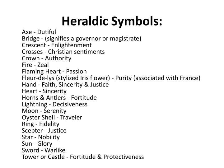 Heraldic Symbols: