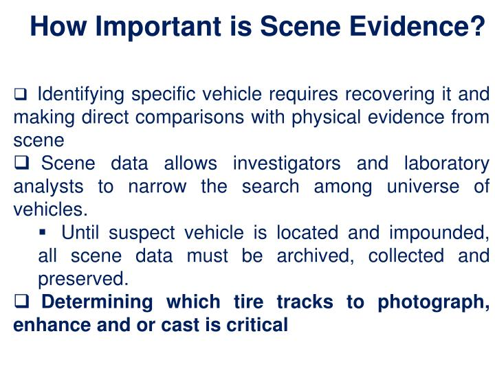 How Important is Scene Evidence?