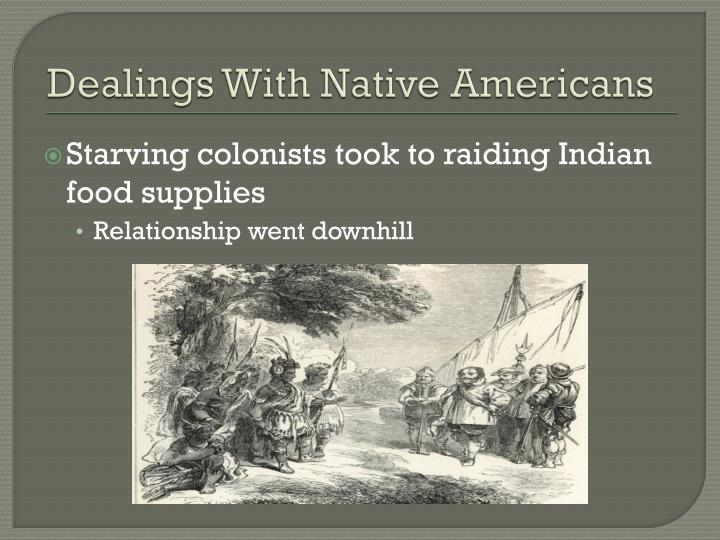 Dealings With Native Americans