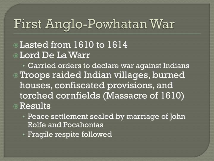 First Anglo-Powhatan War