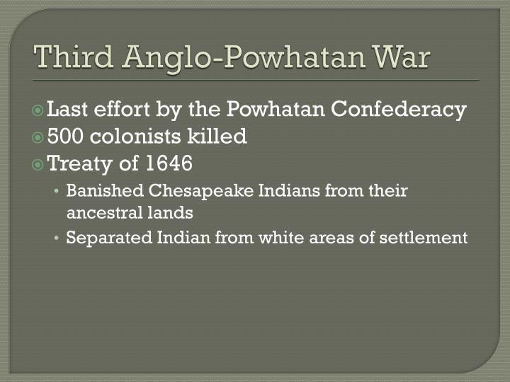 Third Anglo-Powhatan War