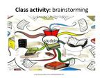 class activity brainstorming