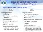 group on earth observations cfp for decision support projects14