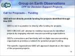 group on earth observations cfp for decision support projects17