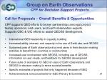 group on earth observations cfp for decision support projects19