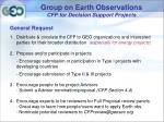 group on earth observations cfp for decision support projects9