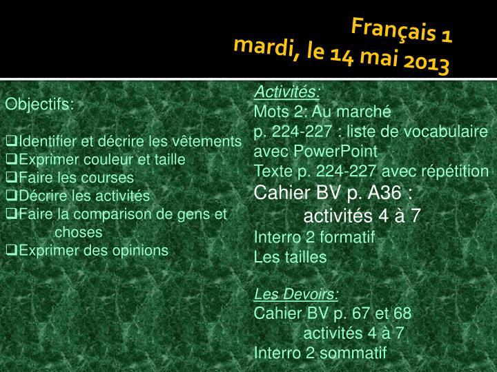 Français 1