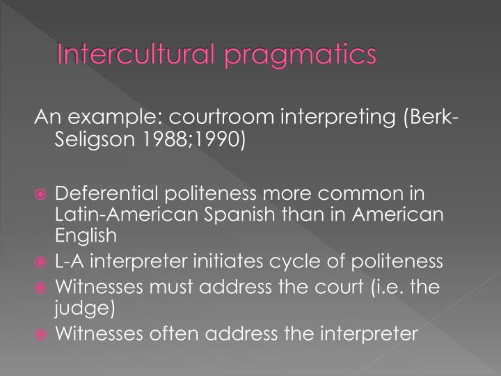 Intercultural pragmatics