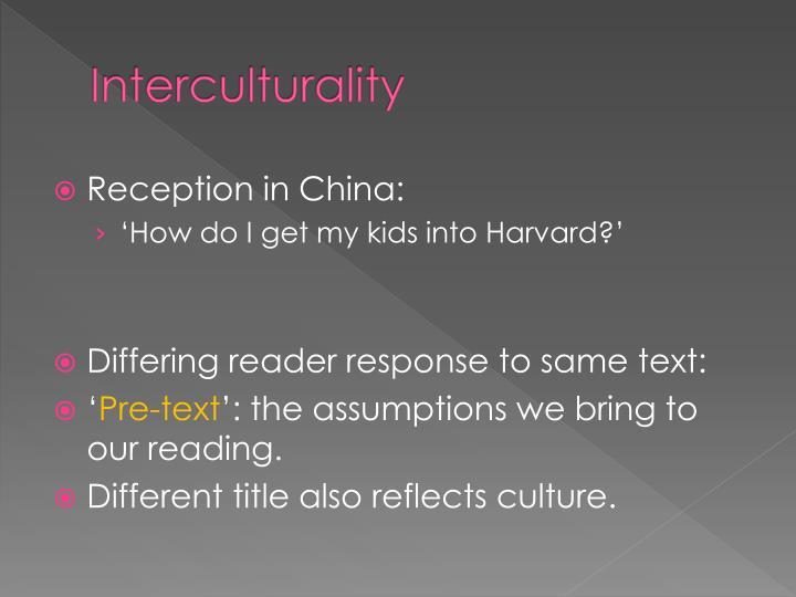 Interculturality