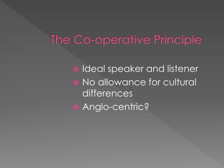 The Co-operative Principle
