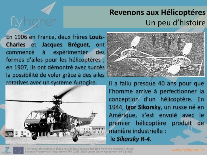 Revenons aux Hélicoptéres