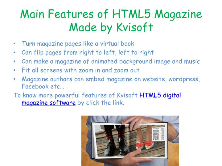 Main Features of HTML5 Magazine Made by Kvisoft