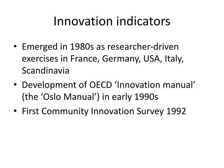 Innovation indicators