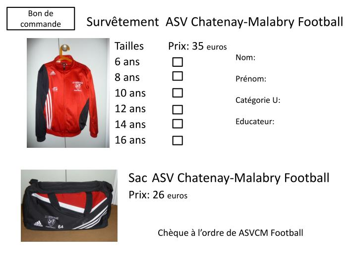 Surv tement asv chatenay malabry football