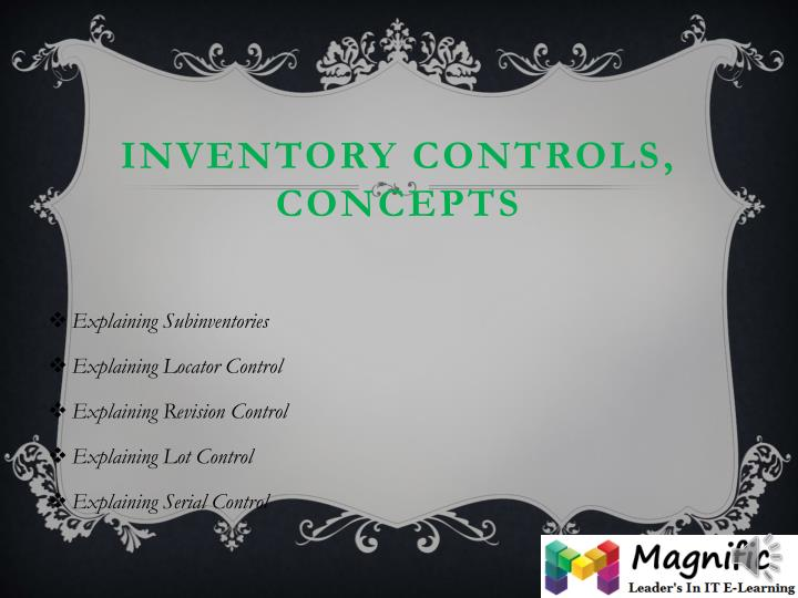 Inventory Controls,