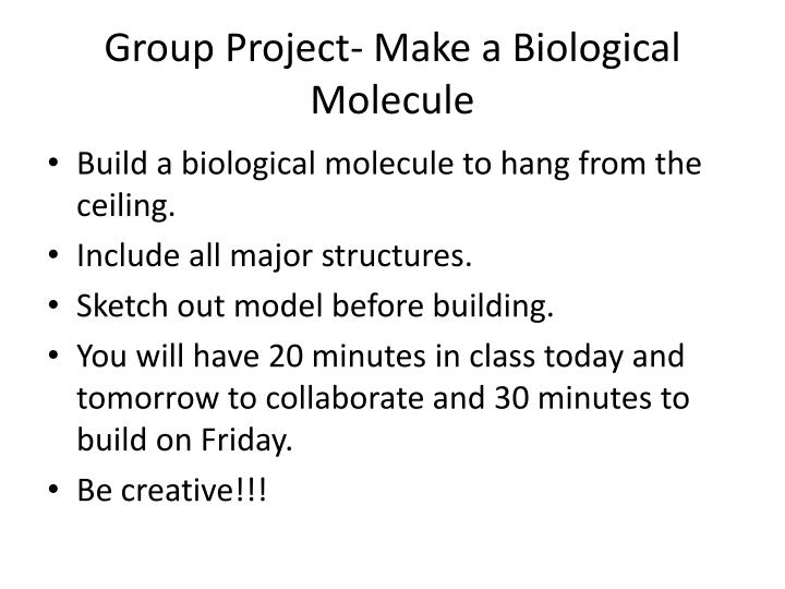 Group Project- Make a Biological Molecule