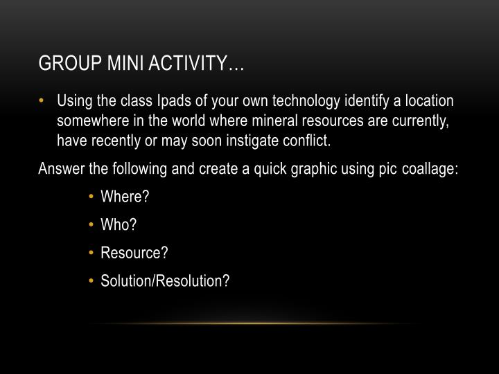 Group Mini Activity…