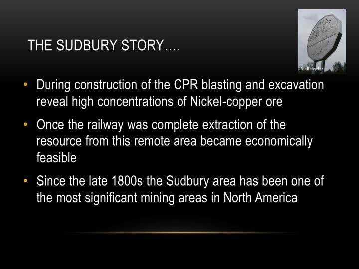 The Sudbury Story….