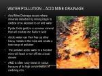 water pollution acid mine drainage