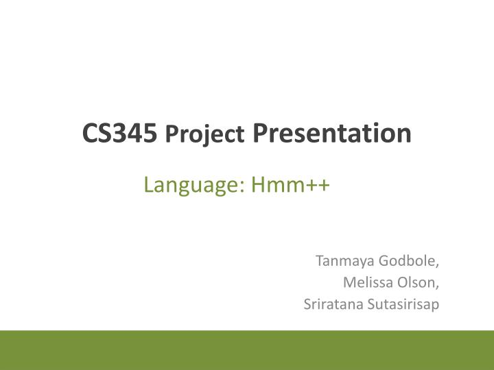 Cs345 project presentation