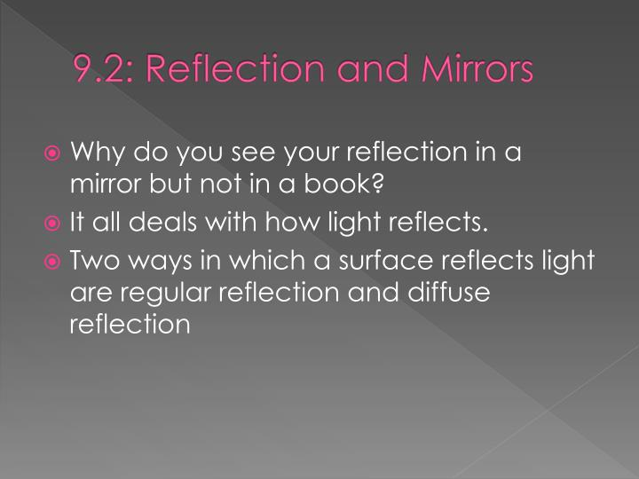 9.2: Reflection and Mirrors