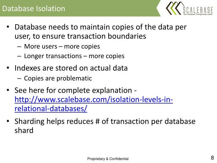 Database Isolation
