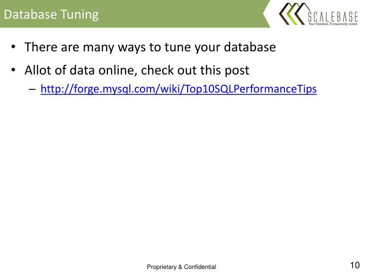 Database Tuning