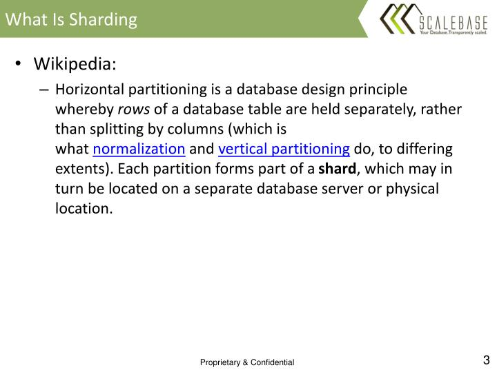 What is sharding