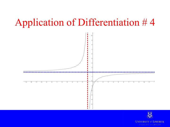 application of differentiation Don't think, differentiate with respect to time  first way the problem was done,  but the second fits better into the find a relationship, then differentiate pattern.