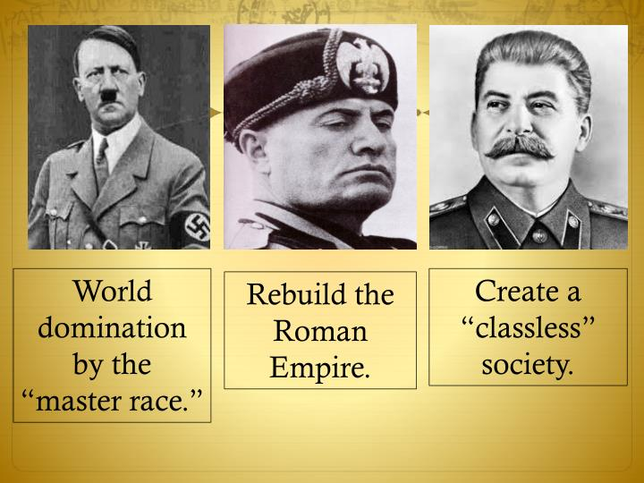"""World domination by the """"master race."""""""