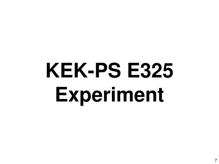 KEK-PS E325 Experiment